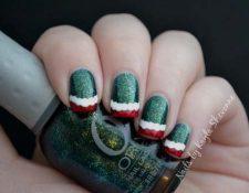 Χριστουγεννιάτικο γαλλικό μανικιούρ (52)