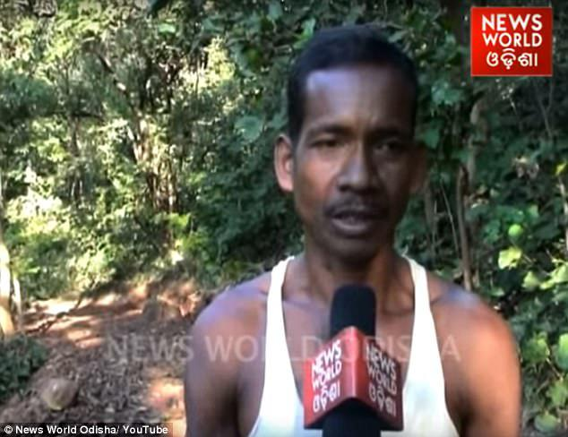 The 45-year-old, who works as a vegetable seller, ensured that no tree was cut down while making his road