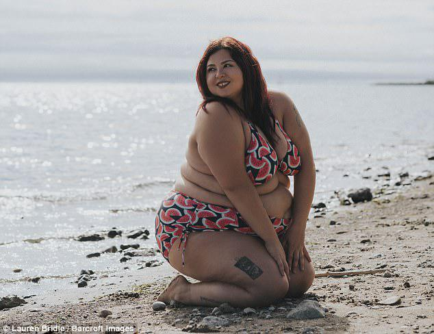 Speaking about her positive attitude to her weight, Jewelz says:'To be a bigger girl and then be thin and then be unhappy it was kind of a wake up call for me and I realised that being thin isn't going to make me happy'
