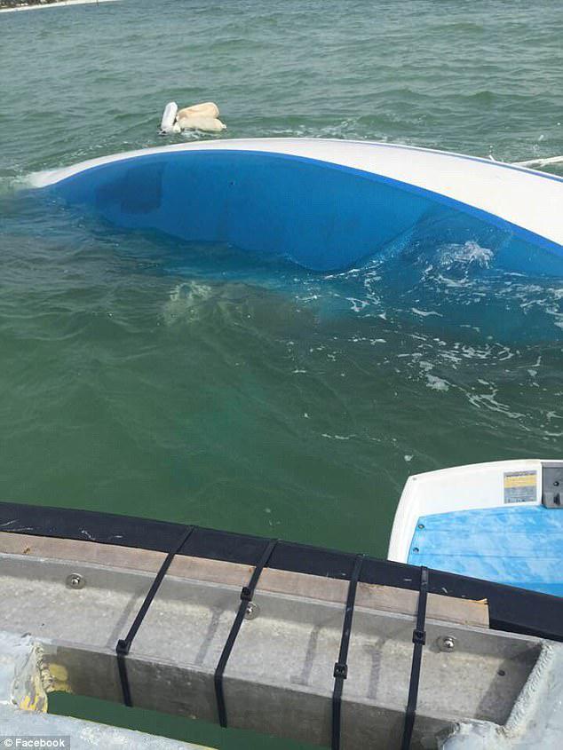 Τώρα, αντιμετωπίζουν το κόστος που θα τους κοστίσει μέχρι τα 10.000 δολάρια για να βγάλουν το σκάφος από το νερό