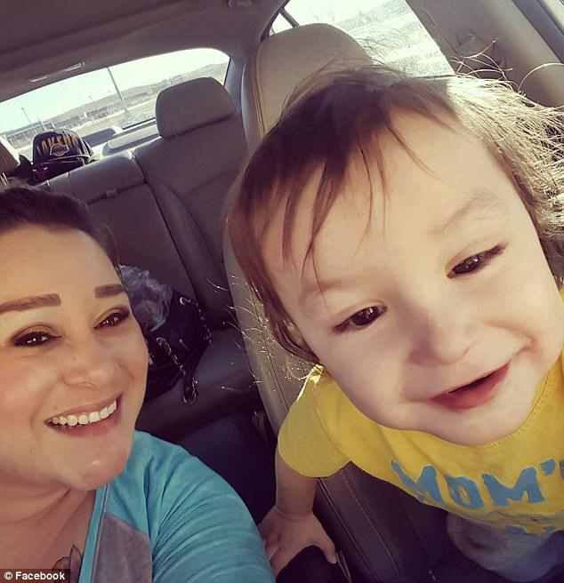 Prosecutors said in court documents; 'Potty training was the catalyst for the child abuse and (Dubray) knew the statement and representation was false.'  Kylen is pictured above with his aunt