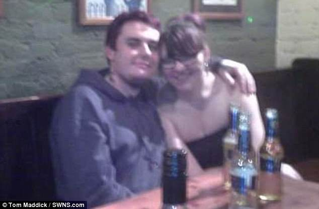 Mr Purdy, with his ex, who he dumped after he noticed 'my libido for women had gone and I was wanting male attention'