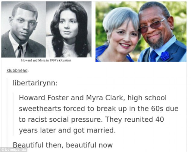 An interracial couple who broke up because of 'racist societal pressure' met up and got married decades later
