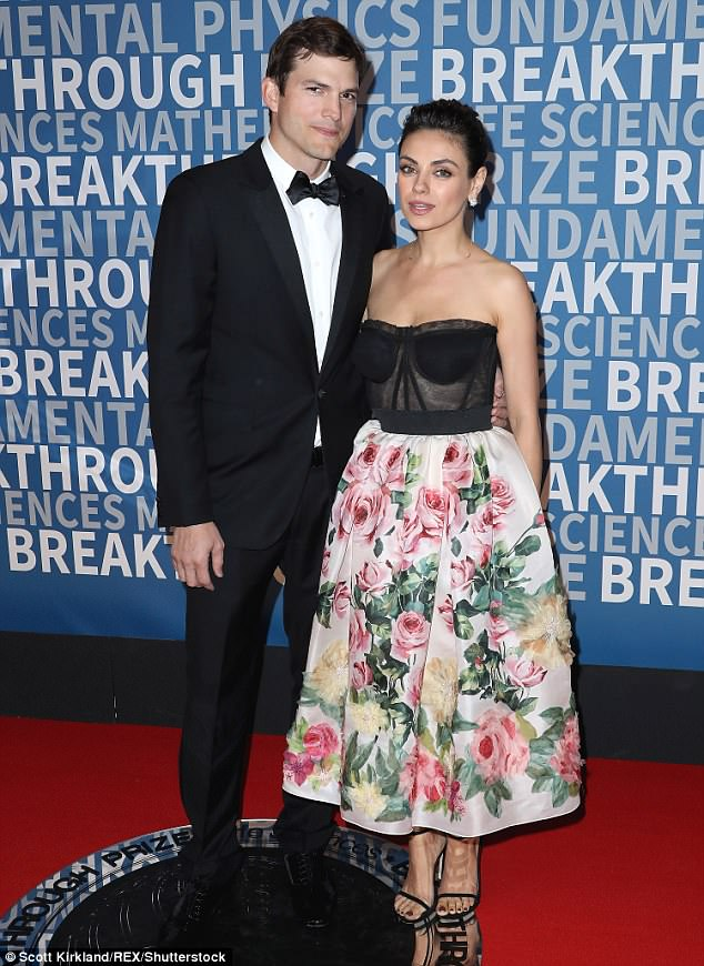 Happy couple: The actor is married to actress and former co-star, Mila Kunis. The couple have two children, daughter Wyatt, three, and son Dimitri, 18 months
