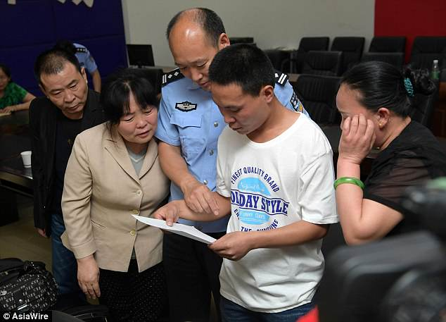 Li Lei, nicknamed Lei Lei, was able to meet his birth parents on Friday after local police successfully identified him in a DNA database of missing children