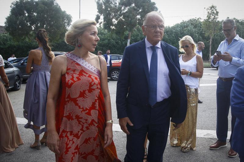 Ο Ντούσαν Ιβκοβιτς με την σύζυγο του