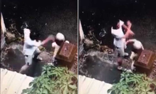 Αποτέλεσμα εικόνας για Taiwanese man is caught choking and slapping his mother who has Alzheimer's because 'she is too smelly'