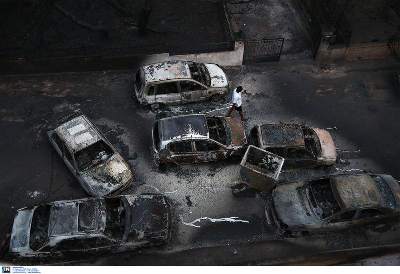 Μόνο καταστροφή άφησε στο πέρασμα της η φωτιά στο Μάτι