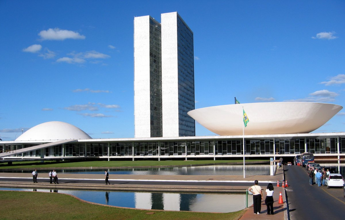 The National Congress of Brazil in Brasília.