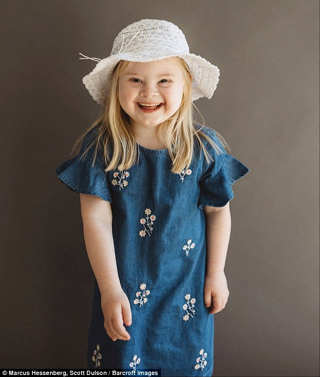 Grace Isabella Wharton, seven, from Cheshire who suffers from Down syndrome has built a succesful career in the modelling industry with brands including CBeebies and Disney among her portfolio