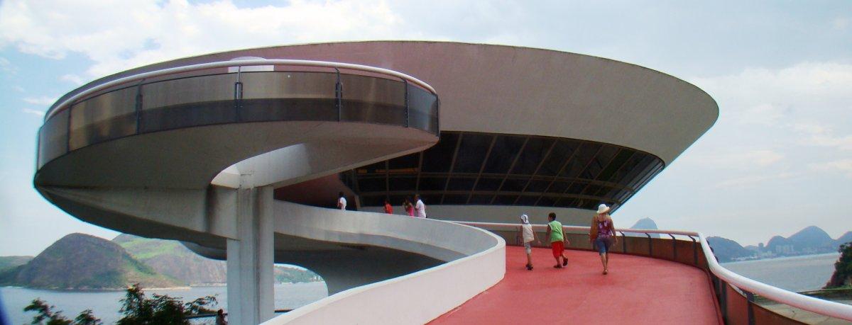 The Niterói Contemporary Art Museum (MAC) in Rio de Janeiro, Brazil