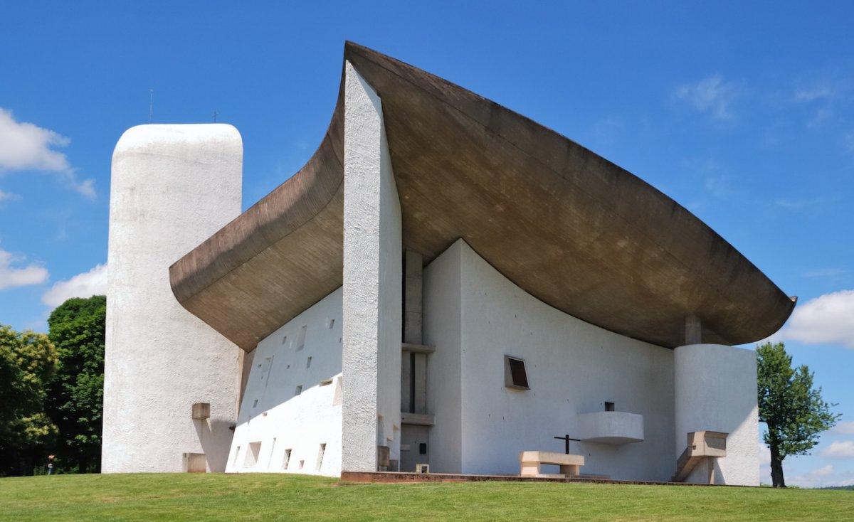 Notre Dame du Haut in Ronchamp, France.