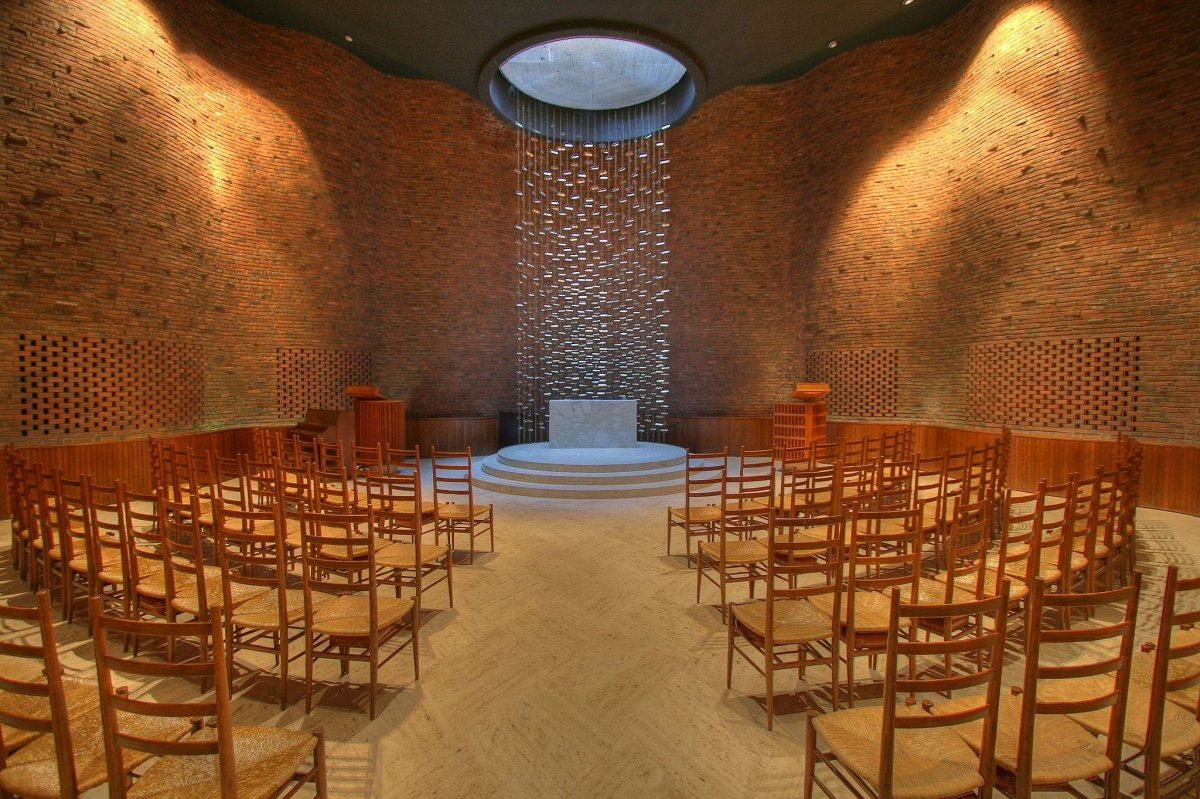 The MIT Chapel in Cambridge, Massachusetts.