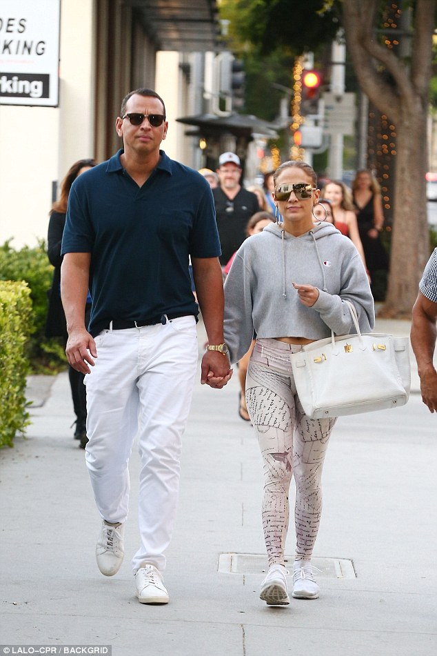 Burning up her Dinero: This comes after Jennifer was seen with beau Alex Rodriguez in Beverly Hills as they went on a shopping spree