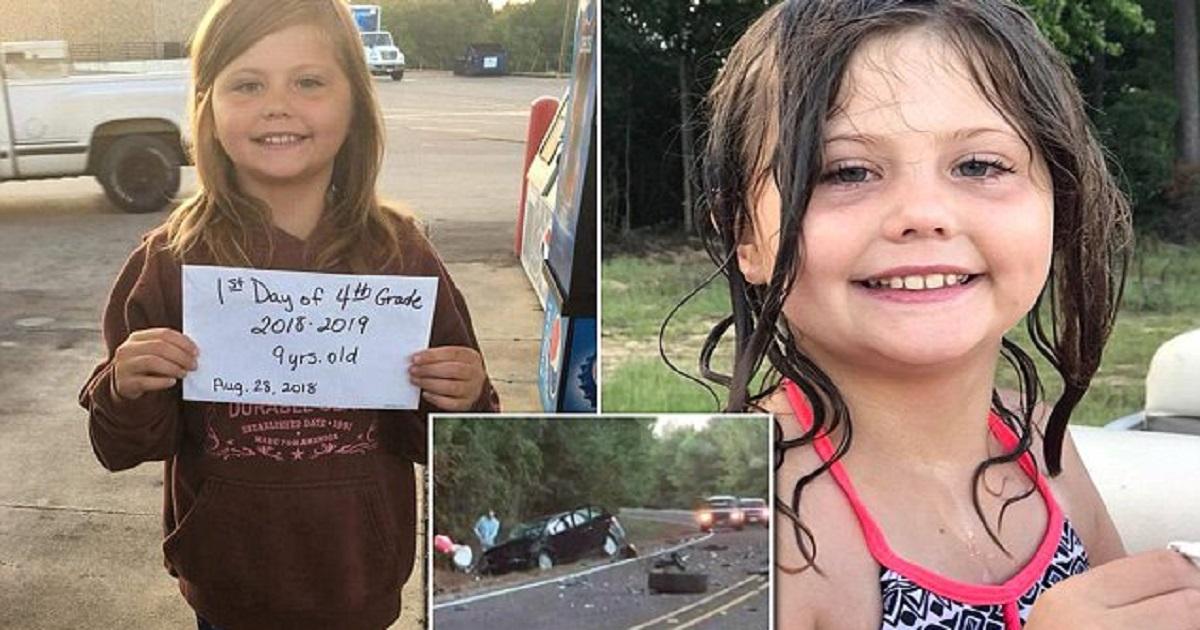 9χρονη έβγαλε φωτογραφία για την πρώτη της μέρα στο σχολείο και λίγο μετά σκοτώθηκε σε τροχαίο