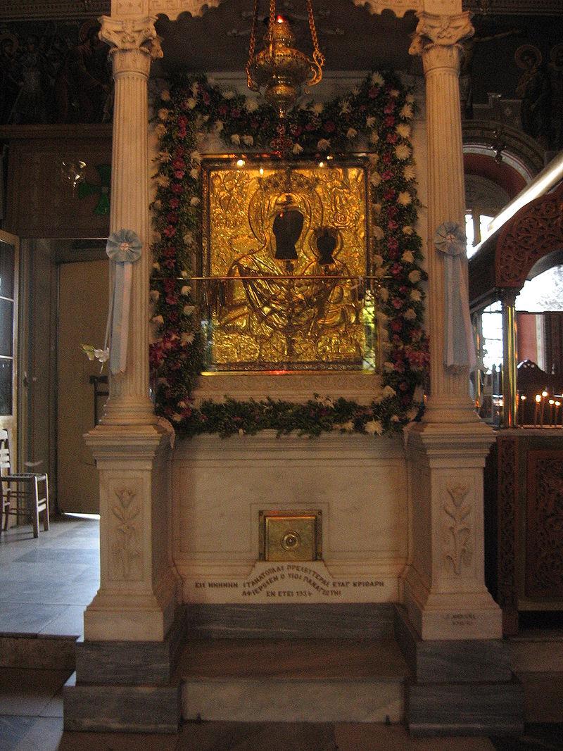 Η θαυματουργή εικόνα της Παναγίας της Μυρτιδιώτισσας