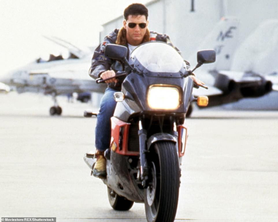 Throwback: He was only 24 years old when Top Gun was released to theaters in 1986; pictured in the original film