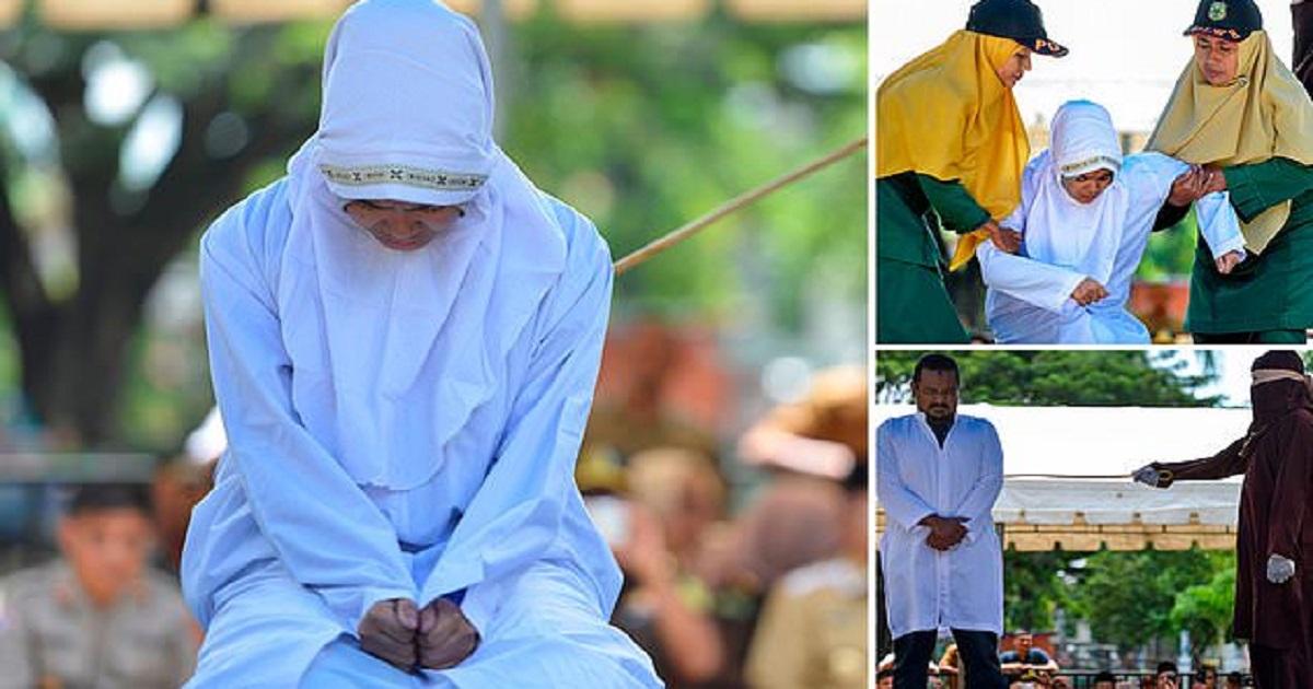 Ινδονησία: Μαστίγωσαν ζευγάρι σε δημόσια θέα επειδή είχαν σχέση πριν το γάμο