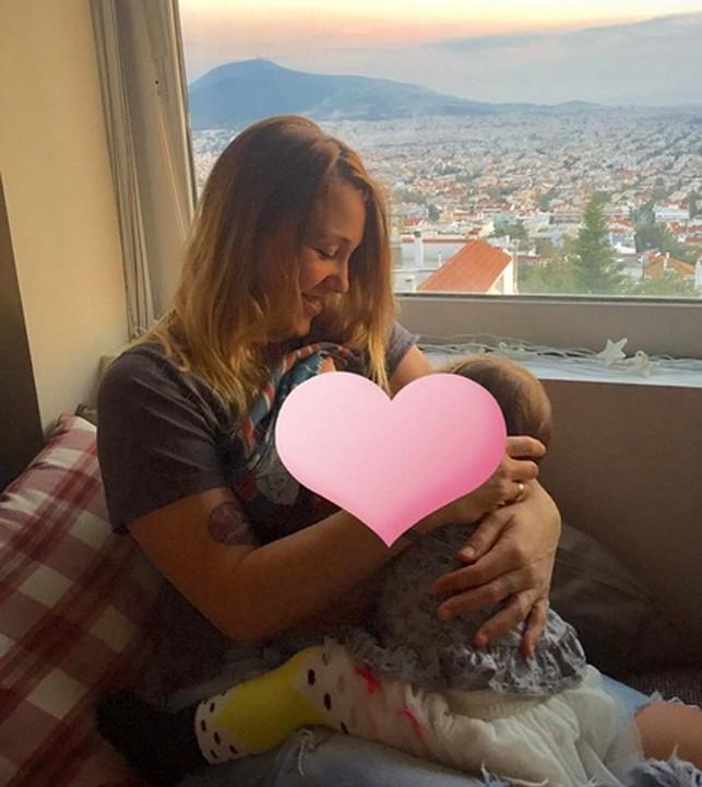 Αποτέλεσμα εικόνας για πηνελόπη αναστασοπούλου μωρό