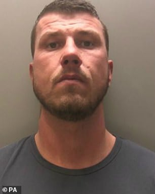 Cooksey (pictured) was today jailed for his abusive campaign of violence