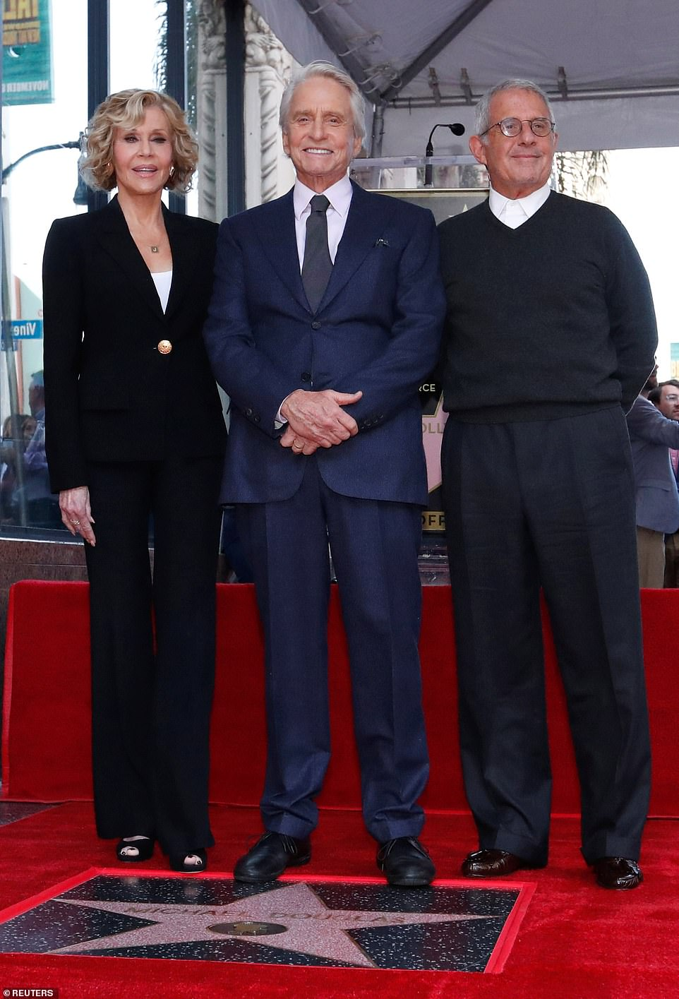 In good company: Michael was also supported bylong-time friend and The China Syndrome co-star Jane Fonda, 80, and his former agent Ron Meyer, now the Vice Chairman of NBC Universal