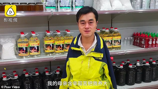 The man now runs a successful food store online and looks after his mother in his spare time