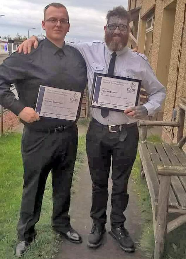 The pair have been commended for their actions at the Police Scotland Bravery and Meritorious Conduct Awards in Tulliallan, Fife