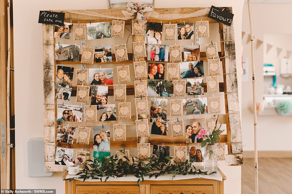 Staff filled the ward with handmade decorations and photos of the couple and even held a stag and hen do