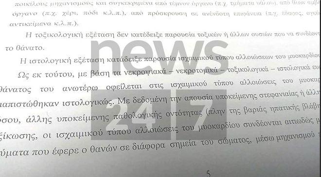 Πόρισμα: Ο Ζακ Κωστόπουλος πέθανε από ισχαιμικό επεισόδιο που προκλήθηκε από πολλαπλά τραύματα