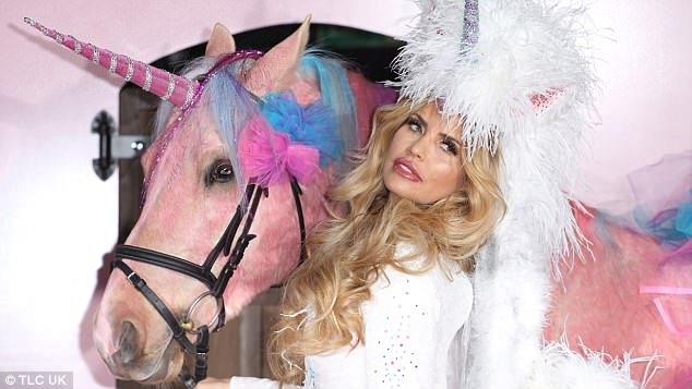 The company have previously produced glitter covered furniture for Katie Price (pictured)