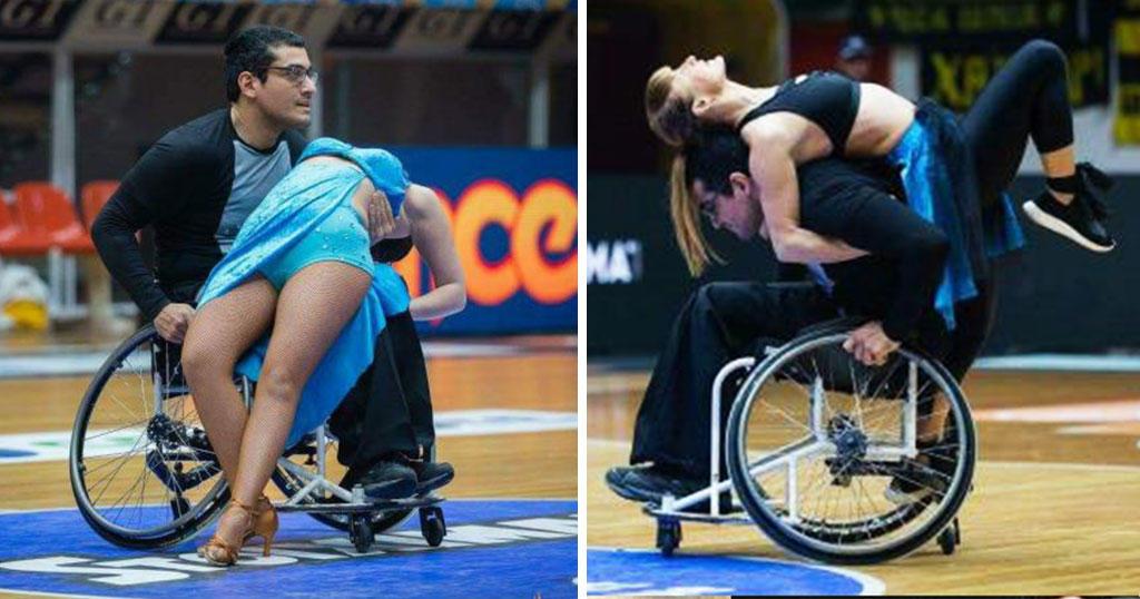 Πάτρα: Άντρας χόρεψε με την ψυχή του και το αναπηρικό του αμαξίδιο σε ημίχρονο αγώνα και ξεσήκωσε ένα ολόκληρο γήπεδο