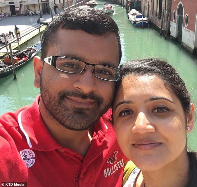 Mitesh Patel, 37, denies strangling his wife Jessica, 34, at their home in Middlesbrough
