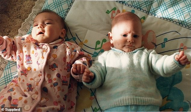 THEN: The pair met the day they were born in William Angliss Hospital in Upper Ferntree Gully in 1989