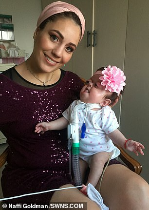 Around 80 per cent of children worn with Batya's disabilities die within 12 weeks but she has 'found a way to survive'