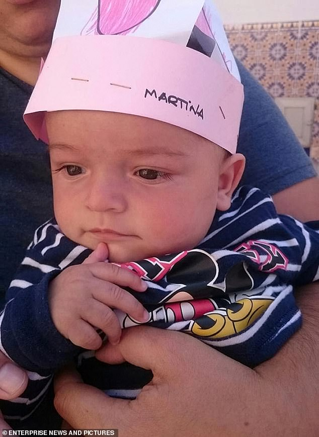 First pictures of two-year-old Julen Rosello, the Spanish boy who fell down a 15 inch wide bore hole at a countryside property near Malaga