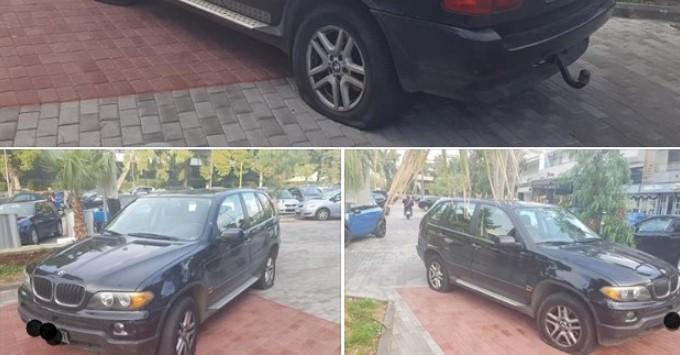 Άντρας πάρκαρε στη θέση για ΑμεΑ στη Γλυφάδα και του έσκασαν και τα τέσσερα λάστιχα! Ορθώς έπραξαν;