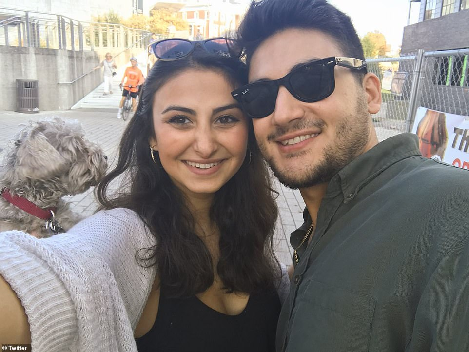 Baluch's father Masoud described the couple, both UTC students, as 'full of joy'