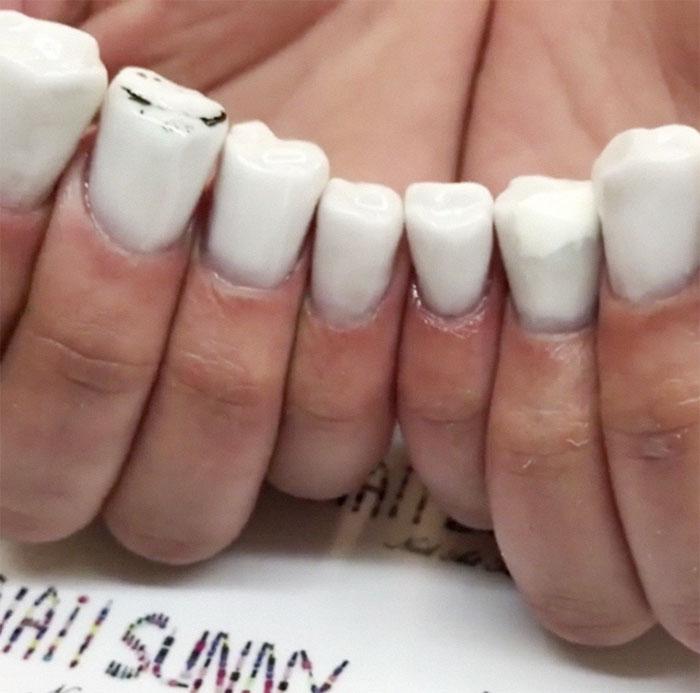 Ήρθαν τα νύχια σε σχήμα δοντιών και είναι η πιο άσχημη μόδα που βγήκε ποτέ - Εικόνα 2