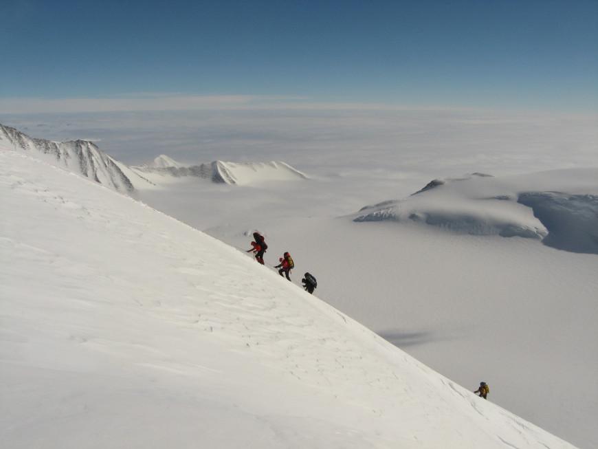 Από την αποστολή στην Ανταρκτική. Φωτογραφία Χριστίνα Φλαμπούρη Facebook