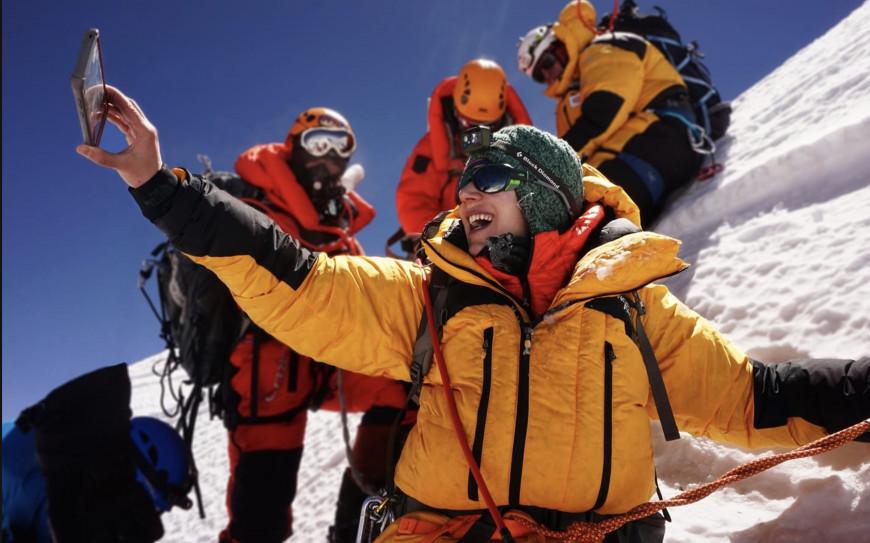 Κορυφή Lhotse, 2019, Φωτογραφία Χριστίνα Φλαμπούρη Facebook