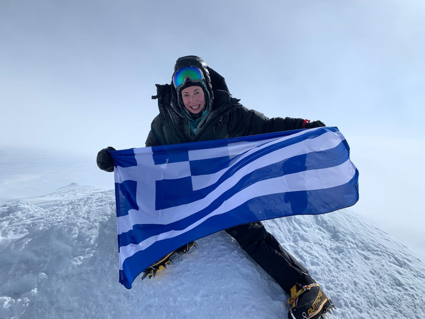 Από την κατάκτηση του Βίνσον στην Ανταρκτική Φωτογραφία Χριστίνα Φλαμπούρη Facebook