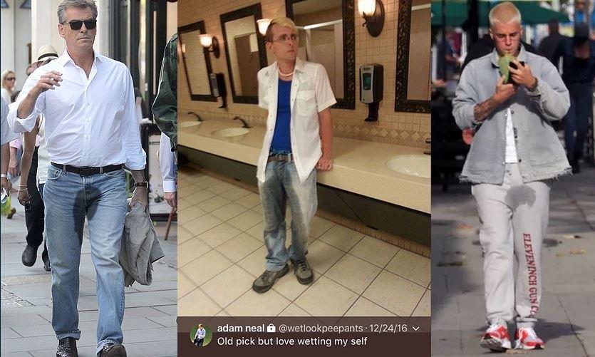 Μόδα στα τζιν κατουρημένο παντελόνι διάσημοι